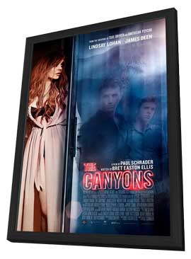 The Canyons - 27 x 40 Movie Poster - Style A - in Deluxe Wood Frame