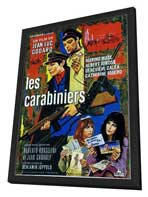The Carabineers - 27 x 40 Movie Poster - French Style A - in Deluxe Wood Frame
