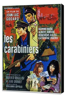 The Carabineers - 27 x 40 Movie Poster - French Style A - Museum Wrapped Canvas