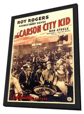 Carson City Kid - 11 x 17 Movie Poster - Style A - in Deluxe Wood Frame