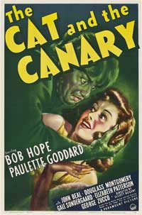 The Cat and the Canary - 27 x 40 Movie Poster - Style E