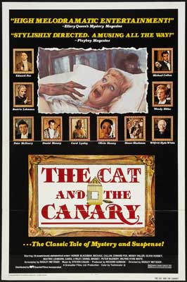 The Cat and the Canary - 11 x 17 Movie Poster - Style H