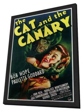 The Cat and the Canary - 11 x 17 Movie Poster - Style A - in Deluxe Wood Frame