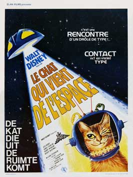 The Cat from Outer Space - 11 x 17 Movie Poster - Belgian Style A