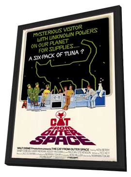 The Cat from Outer Space - 27 x 40 Movie Poster - Style A - in Deluxe Wood Frame