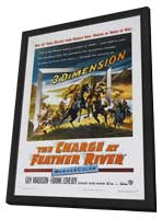 The Charge at Feather River - 11 x 17 Movie Poster - Style A - in Deluxe Wood Frame