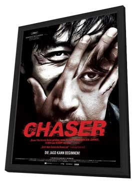 The Chaser - 11 x 17 Movie Poster - German Style A - in Deluxe Wood Frame
