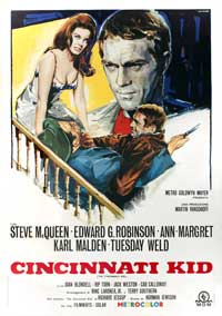 The Cincinnati Kid - 27 x 40 Movie Poster - Italian Style A