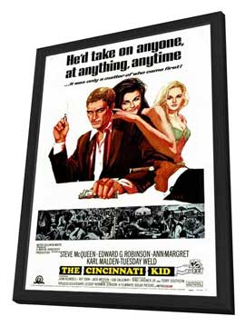 The Cincinnati Kid - 27 x 40 Movie Poster - Style A - in Deluxe Wood Frame