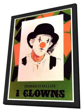 The Clowns - 27 x 40 Movie Poster - Style A - in Deluxe Wood Frame