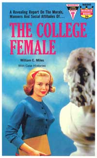 The College Female - 11 x 17 Retro Book Cover Poster