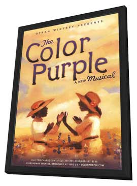 The Color Purple (Broadway) - 11 x 17 Poster - Style A - in Deluxe Wood Frame