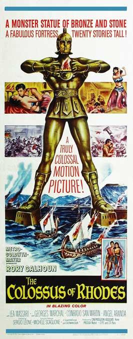 The Colossus of Rhodes - 14 x 36 Movie Poster - Insert Style A