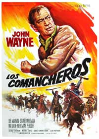 The Comancheros - 11 x 17 Movie Poster - Spanish Style A