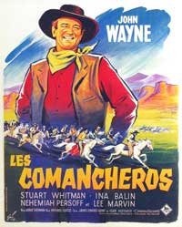 The Comancheros - 11 x 17 Movie Poster - French Style A