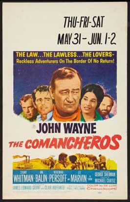 The Comancheros - 27 x 40 Movie Poster - Style C