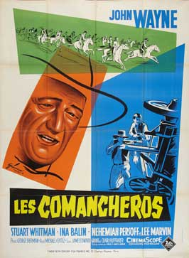 The Comancheros - 11 x 17 Movie Poster - French Style B