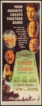 The Comedy of Terrors - 14 x 36 Movie Poster - Insert Style A