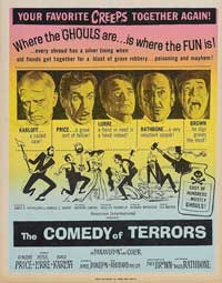 The Comedy of Terrors - 11 x 17 Movie Poster - Style B