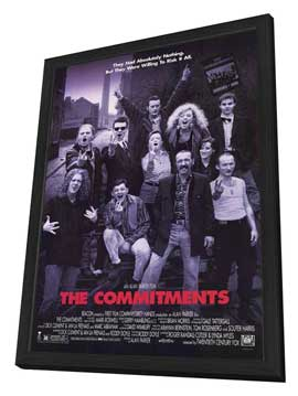 The Commitments - 27 x 40 Movie Poster - Style C - in Deluxe Wood Frame