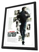 The Company You Keep - 11 x 17 Movie Poster - Swedish Style A - in Deluxe Wood Frame
