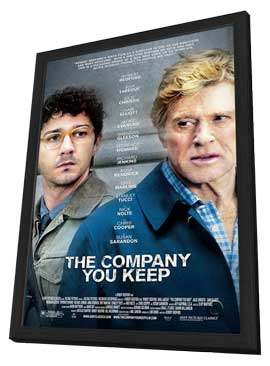 The Company You Keep - 11 x 17 Movie Poster - Style A - in Deluxe Wood Frame