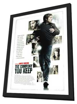The Company You Keep - 27 x 40 Movie Poster - Swedish Style A - in Deluxe Wood Frame