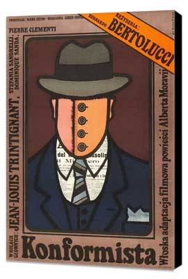 The Conformist - 27 x 40 Movie Poster - Polish Style A - Museum Wrapped Canvas