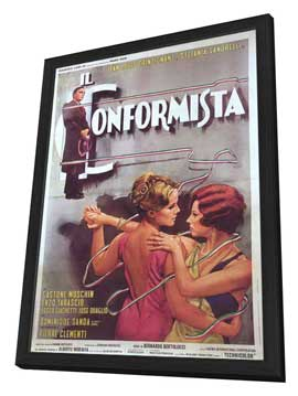 The Conformist - 27 x 40 Movie Poster - Italian Style A - in Deluxe Wood Frame