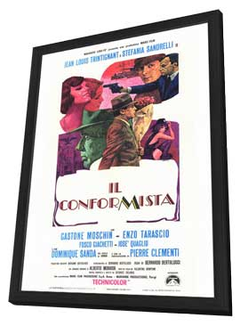 The Conformist - 11 x 17 Movie Poster - Italian Style A - in Deluxe Wood Frame