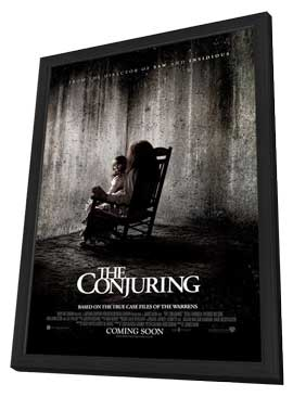 The Conjuring - 11 x 17 Movie Poster - UK Style A - in Deluxe Wood Frame