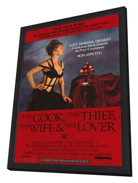 The Cook, the Thief, His Wife & Her Lover - 27 x 40 Movie Poster - Style A - in Deluxe Wood Frame