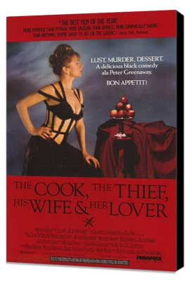 The Cook, the Thief, His Wife & Her Lover - 27 x 40 Movie Poster - Style A - Museum Wrapped Canvas