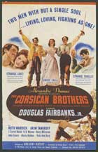 The Corsican Brothers - 27 x 40 Movie Poster - Style D