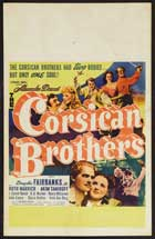 The Corsican Brothers - 11 x 17 Movie Poster - Style G