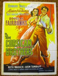 The Corsican Brothers - 27 x 40 Movie Poster - Style A