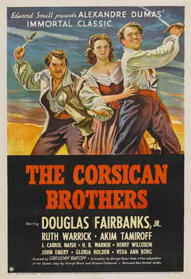 The Corsican Brothers - 11 x 17 Movie Poster - Style C