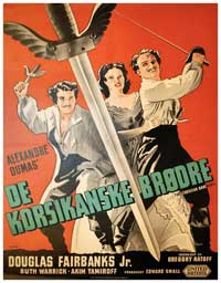 The Corsican Brothers - 11 x 17 Movie Poster - Swedish Style A