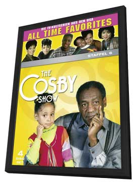 The Cosby Show - 27 x 40 TV Poster - Germany Style A - in Deluxe Wood Frame
