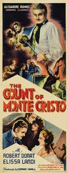 The Count of Monte Cristo - 14 x 36 Movie Poster - Insert Style A