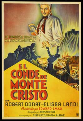 The Count of Monte Cristo - 11 x 17 Movie Poster - Italian Style A