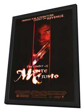 The Count of Monte Cristo - 11 x 17 Movie Poster - Style C - in Deluxe Wood Frame