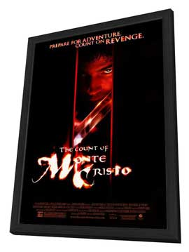 The Count of Monte Cristo - 27 x 40 Movie Poster - Style A - in Deluxe Wood Frame