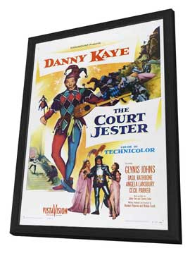 Court Jester - 27 x 40 Movie Poster - Style B - in Deluxe Wood Frame