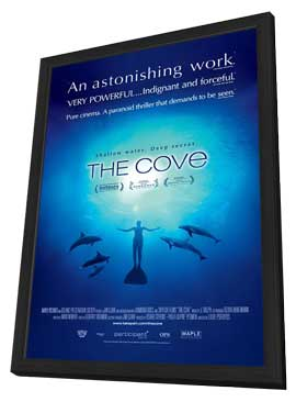The Cove - 11 x 17 Movie Poster - Style A - in Deluxe Wood Frame