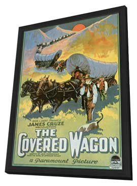 The Covered Wagon - 11 x 17 Movie Poster - Style G - in Deluxe Wood Frame