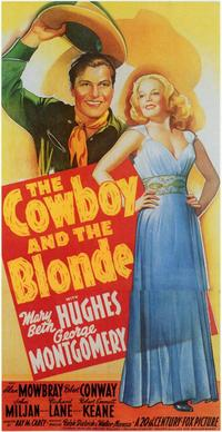 The Cowboy and the Blonde - 11 x 17 Movie Poster - Style A