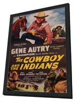 The Cowboy and the Indians - 11 x 17 Movie Poster - Style A - in Deluxe Wood Frame