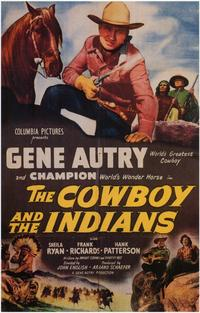 The Cowboy and the Indians - 11 x 17 Movie Poster - Style A