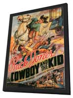 The Cowboy and the Kid - 11 x 17 Movie Poster - Style A - in Deluxe Wood Frame